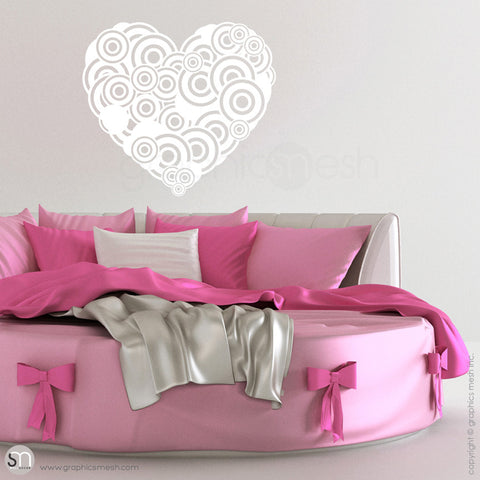 CIRCLES HEART - Wall Decals white