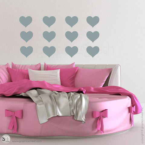 SOLID HEARTS - Wall Decals Pack slate