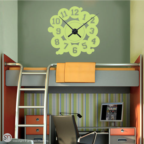 VARSITY NUMBERS - Clock wall decals key lime pie