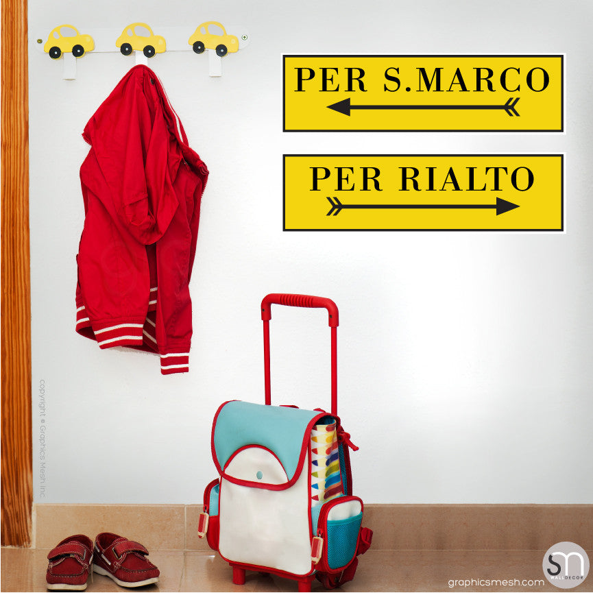 PER S MARCO & PER RIALTO PRINTED SIGNS - Wall decals large