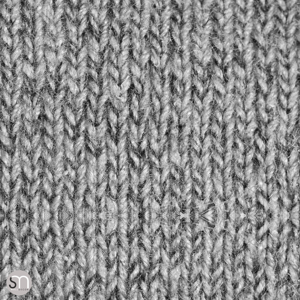 GREY KNIT SWEATER - Peel & Stick Realistic Texture Wallpaper