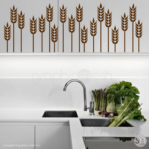WHEAT GRASS BORDER - Wall Decals brown