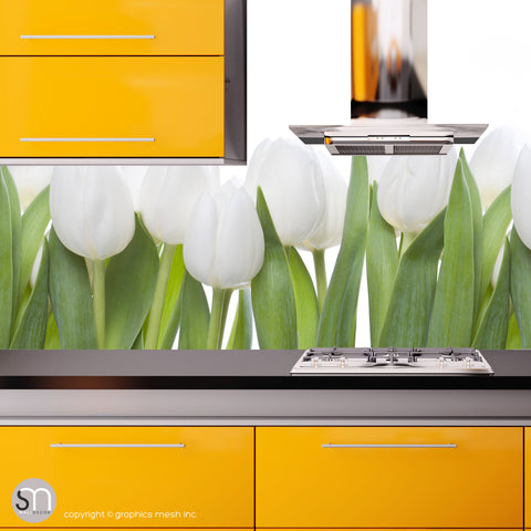 WHITE TULIPS - Nature Wall Mural