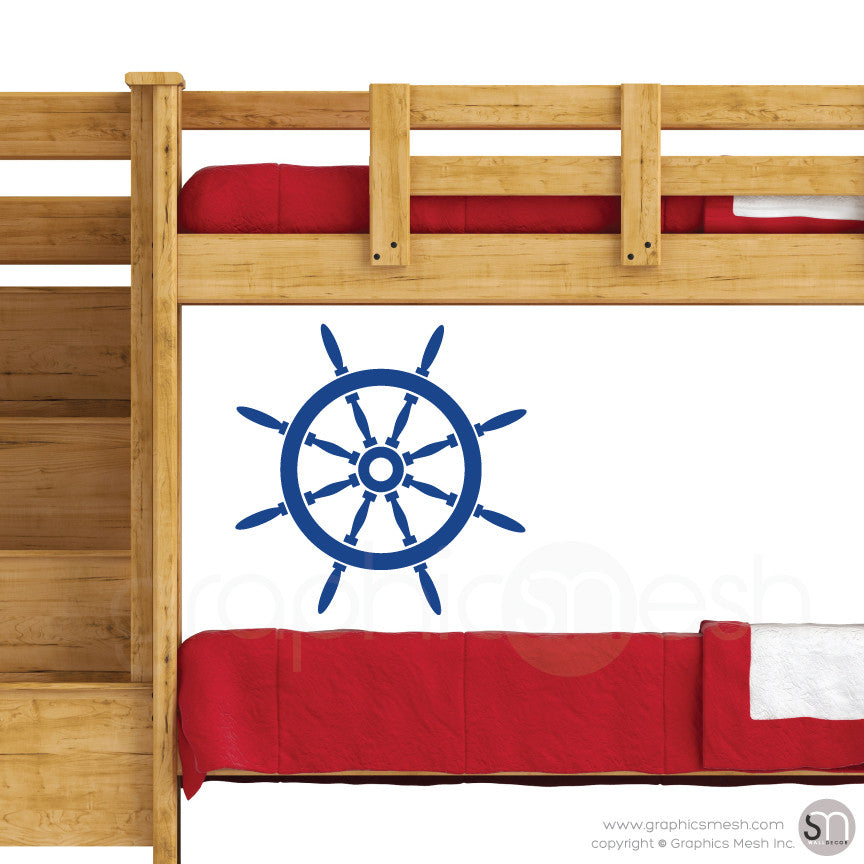 YACHT STEERING WHEEL - Wall decal blue jeans