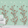 JAPANESE GARDEN OF FLOWERS - Peel & Stick Abstract Wallpaper