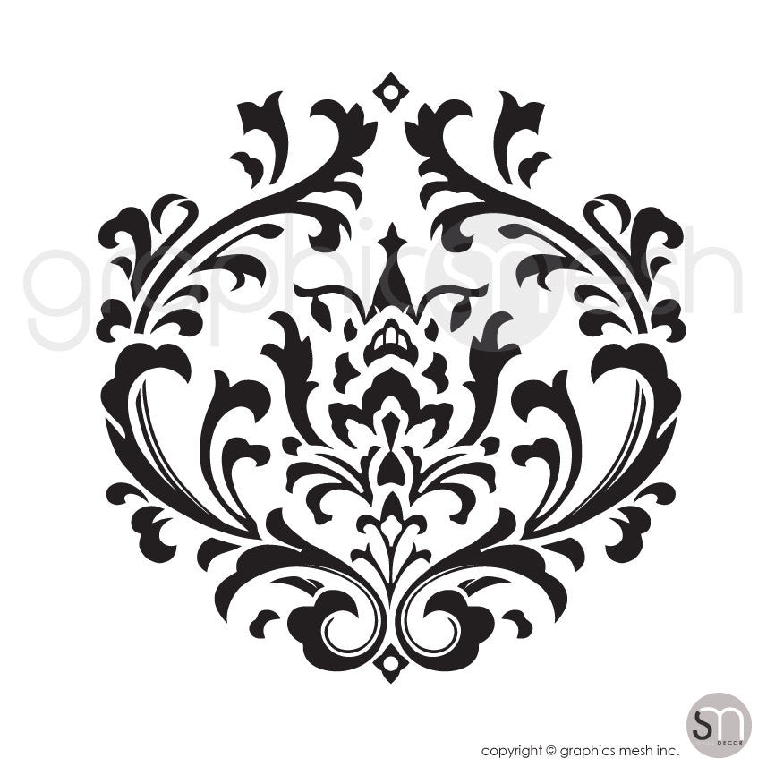 Damask shape wall decal by Graphics Mesh