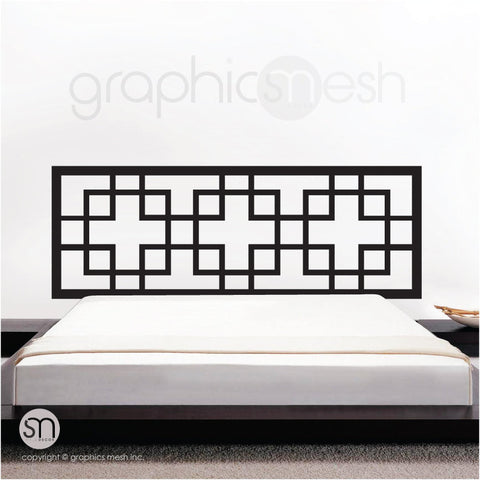 OVERLAPPING SQUARES HEADBOARD WALL DECAL