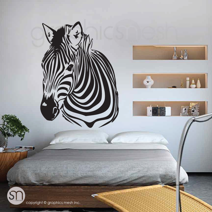 ZEBRA HEAD wall decals