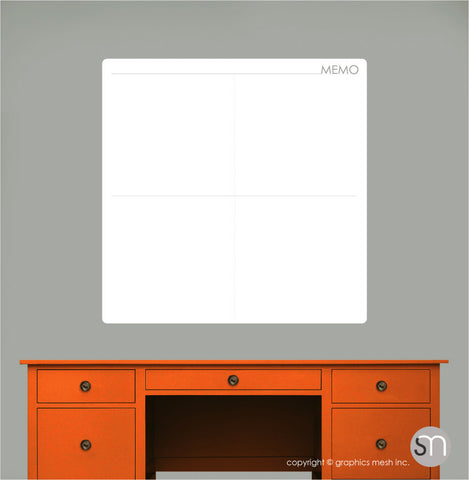 MEMO DRY ERASE WALL DECAL - MOD COLLECTION