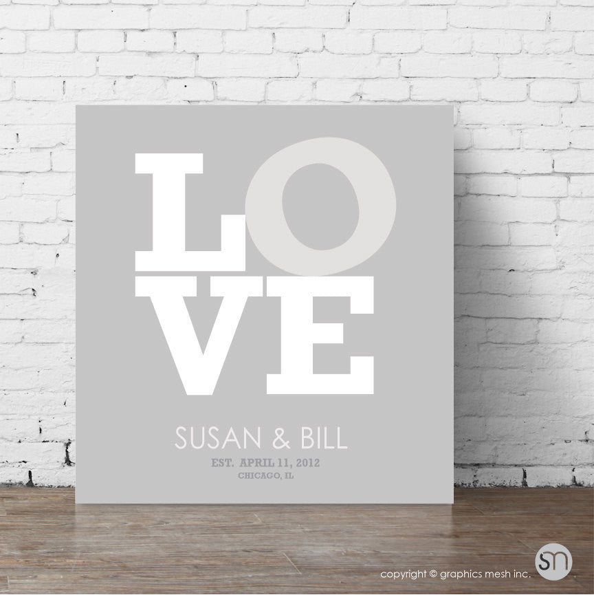 Canvas wrap LOVE wedding gift
