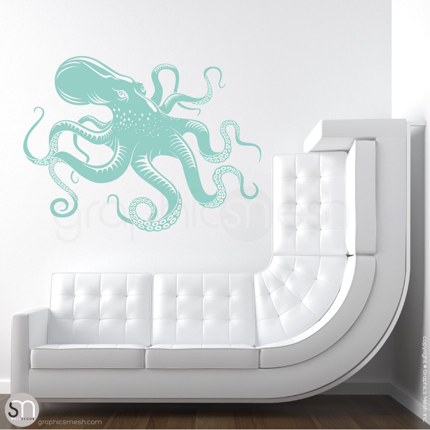 OCTOPUS - wall decals mint
