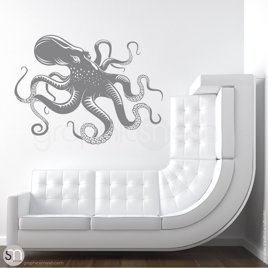 OCTOPUS - wall decals slate