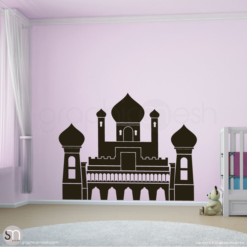 PERSIAN PALACE - Castle wall decal black