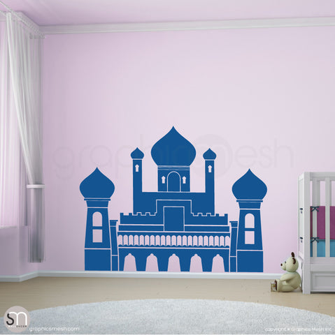 PERSIAN PALACE - Castle wall decal blue