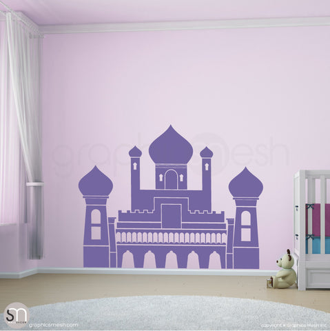 PERSIAN PALACE - Castle wall decal lavender