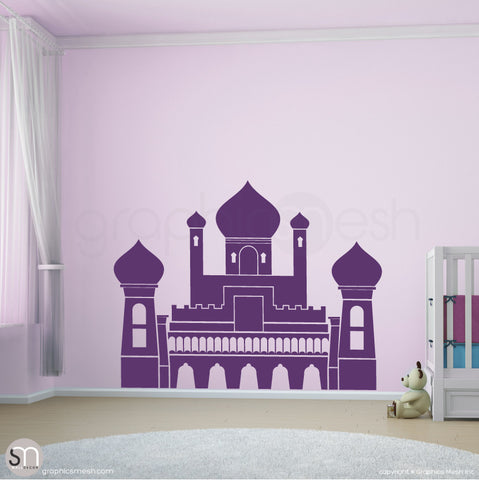 PERSIAN PALACE - Castle wall decal violet