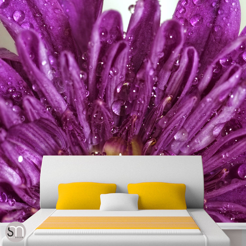 PURPLE FLOWER CLOSEUP - Wall Mural