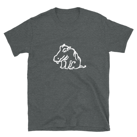 Neutral Hippo Unisex T-Shirts