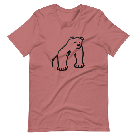 Colorful Polar Bear Unisex T-Shirts
