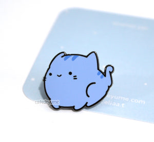 bloo cat enamel pin