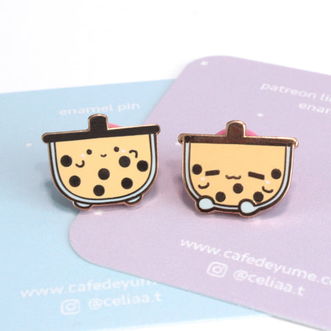 boba buddies mini enamel pin