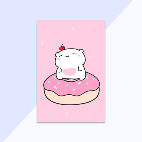 donut beary mini print