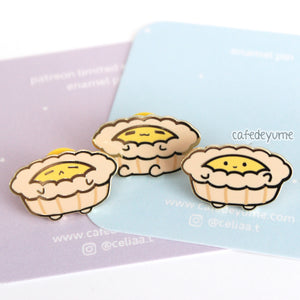 egg tart buddies mini enamel pin