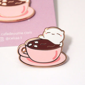 hot chocobeary enamel pin