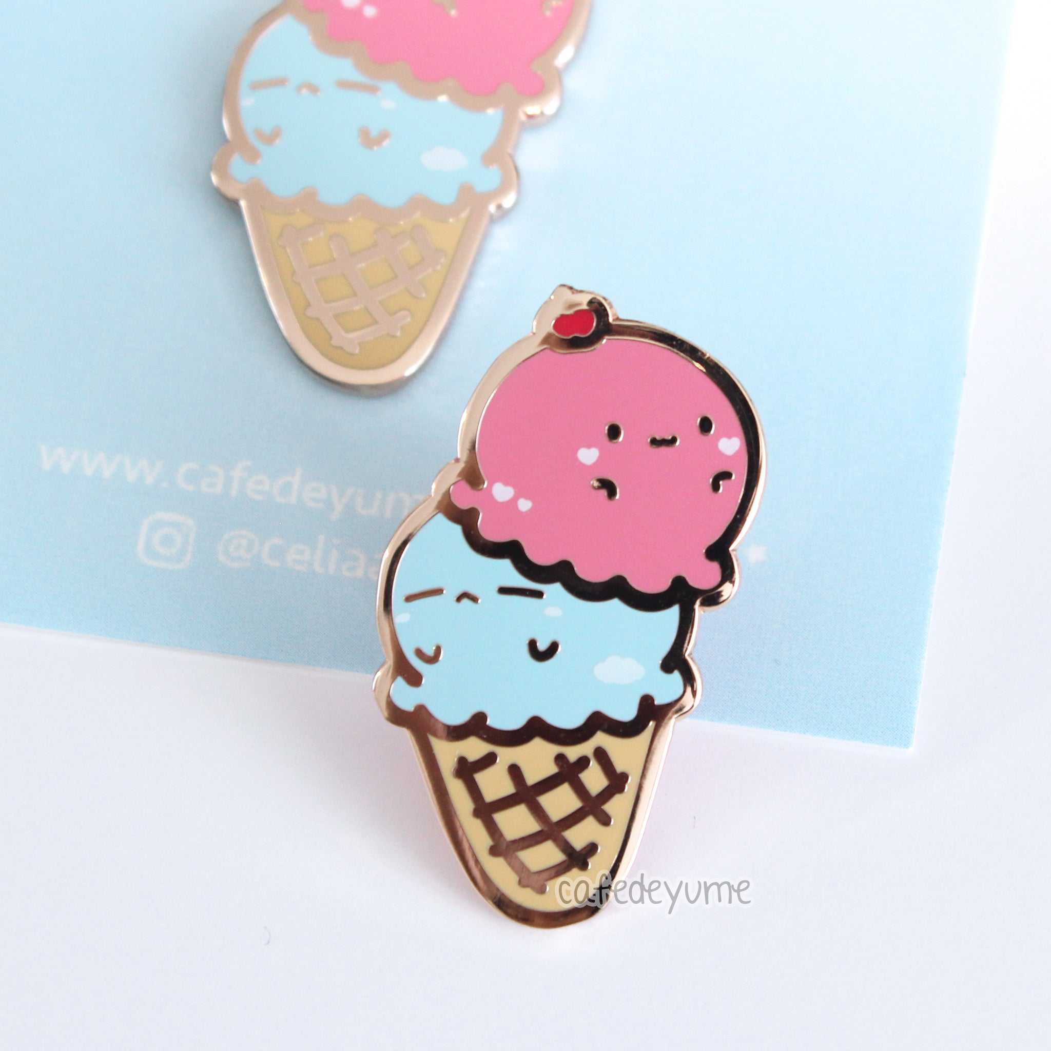 sweet dreams ice cream enamel pin