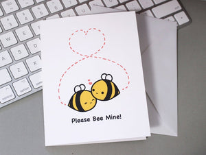 please bee mine greeting card