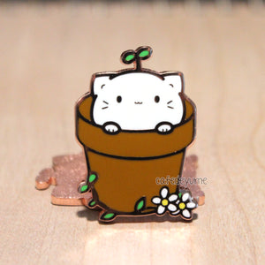 kitty sprout enamel pin