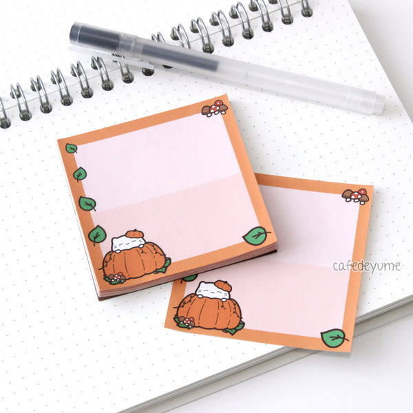 pumpkin cat memopad