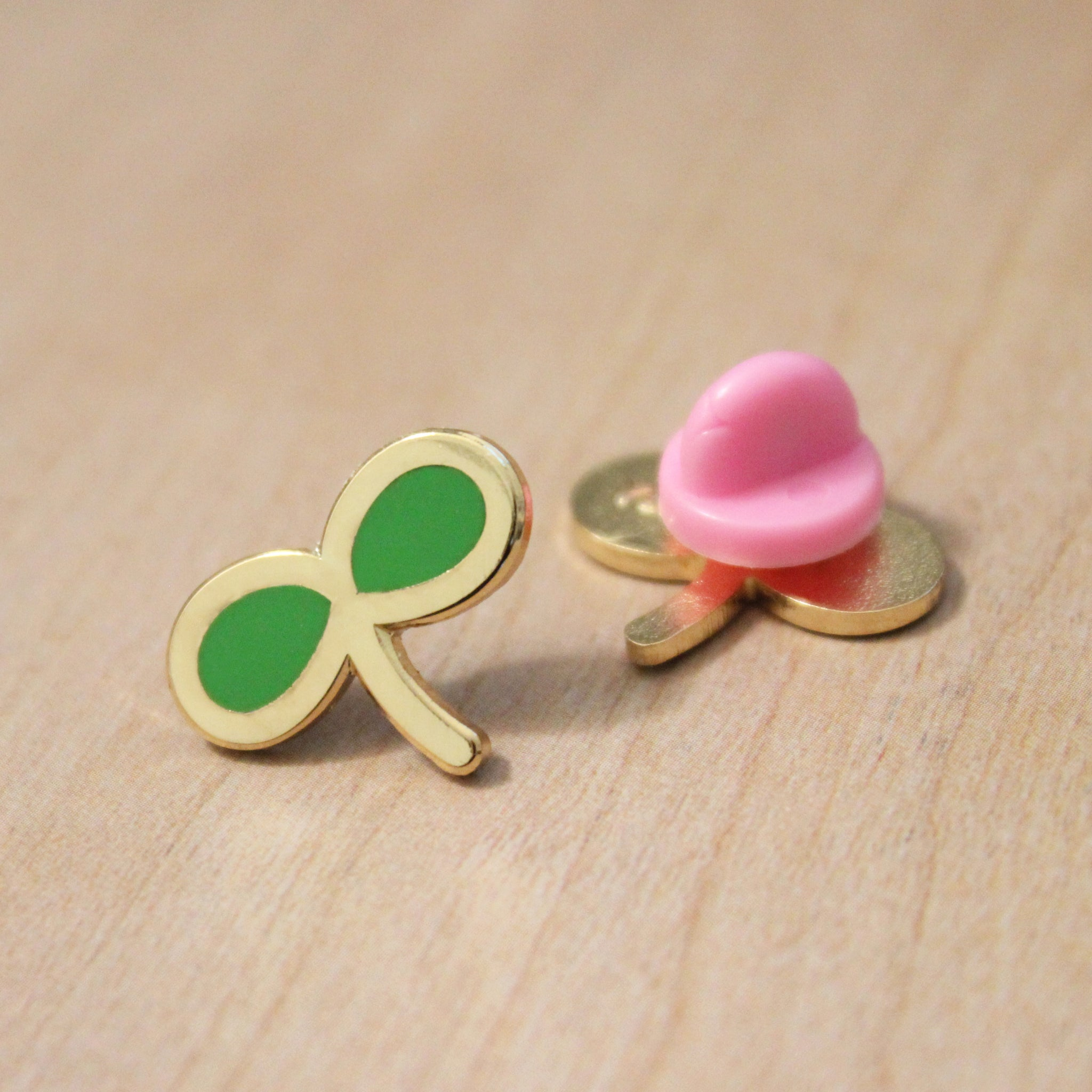 mini sprout enamel pin