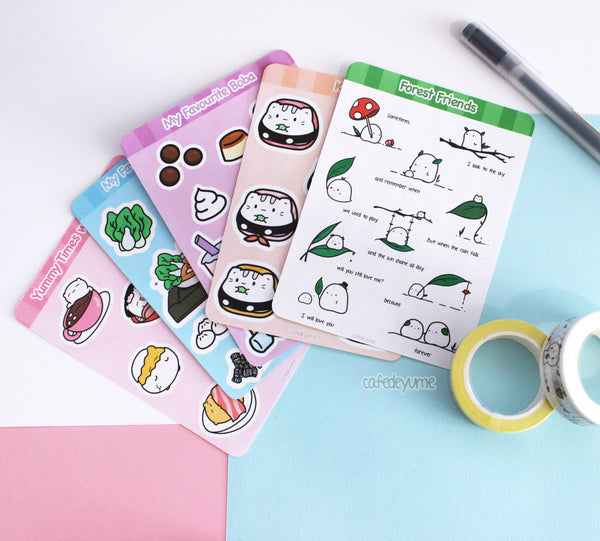 yummy beary sticker sheet