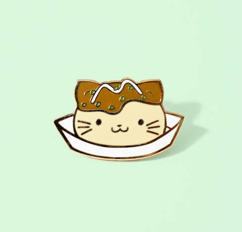 takoyakitty enamel pin
