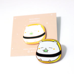 tama beary enamel pin