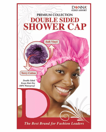 Donna Double Sided Shower Cap Assorted Colors #22025