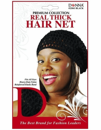Donna Premium Collection Real Thick Hair Net Black #22041