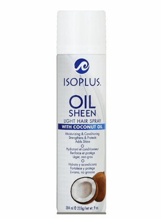Isoplus Oil Sheen Light Hair Spray with Coconut Oil 9 oz