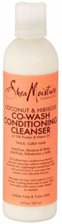 Shea Moisture Coconut & Hibiscus Co Wash Conditioning Cleanser 8 oz