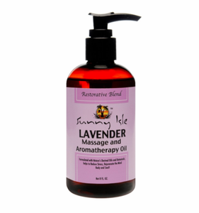 Sunny Isle Lavender Massage and Aromatherapy Oil 8 oz