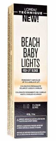 L'Oreal Beach Baby Lights High Lift Blonde Permanent Hair Color 11.12 Platinum Blonde 1.74 oz