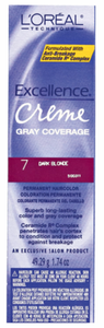 L'Oreal Excellence Creme Gray Coverage Permanent Hair Color 7 Dark Blonde