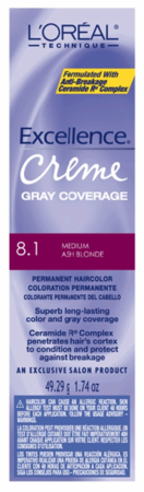 L'Oreal Excellence Creme Gray Coverage Permanent Hair Color 8.1 Medium Ash Blonde