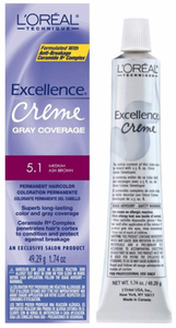 L'Oreal Excellence Creme Gray Coverage Permanent Hair Color 5.1 Medium Ash Brown