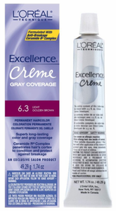 L'Oreal Excellence Creme Gray Coverage Permanent Hair Color 6.3 Light Golden Brown