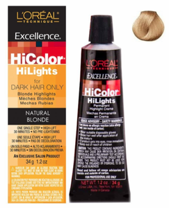 L'Oreal Excellence HiColor Blonde HiLights For Dark Hair Only Hair Color Natural Blonde 1.2 oz
