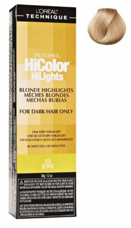 L'Oreal Excellence HiColor Blonde HiLights For Dark Hair Only Hair Color Ash Blonde 1.2 oz