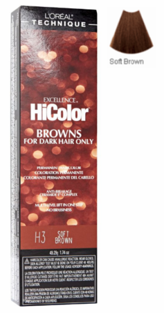 L'Oreal Excellence HiColor Browns for Dark Hair Only H3 Soft Brown