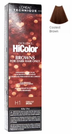 L'Oreal Excellence HiColor Browns for Dark Hair Only H1 Coolest Brown